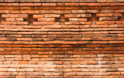 Orange brick wall textured. Orange brick wall vintage background Royalty Free Stock Image