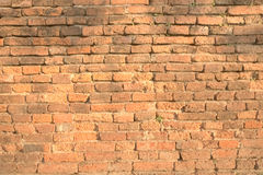 Orange brick wall Stock Photo