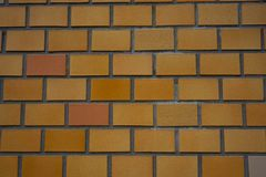 Orange wall brick background in Japan Royalty Free Stock Image