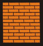 Orange Brick Wall. Vector Clip Art Royalty Free Stock Images