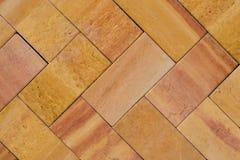 Orange Brick Work (1). Burnt Orange Brick Work in Zig-Zag pattern Stock Photos