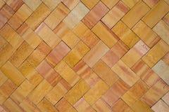 Orange Brick Work (2). Burnt Orange Brick Work in Zig-Zag pattern Stock Photos
