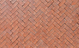 Orange bricks floor Stock Image