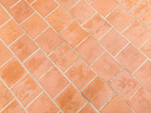 Orange bricks pavers pattern Royalty Free Stock Images