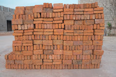 Orange bricks Stock Image