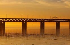 Orange bridge or golden link royalty free stock images