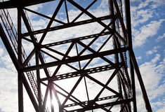 Bridge over blue sky Royalty Free Stock Photography