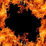 Orange bright flame frame Stock Image