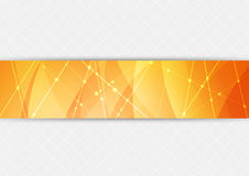 Orange bright hi-tech background Stock Images