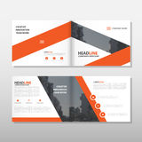 Orange Brochure Leaflet Flyer annual report template design, book cover layout design, abstract business presentation template Stock Photo