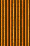 An orange and bronze vertical pattern with jagged serrated edges. A close up or a detail of a pattern that makes up a larger material or surface Royalty Free Stock Photos