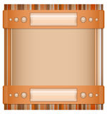 Orange - brown background with layout. Stock Image