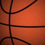 Orange/Brown Basketball close up background Stock Photography