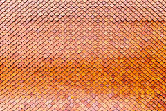 Orange brown clay roof surface. Seamless texture background Royalty Free Stock Images