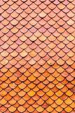Orange brown clay roof surface Stock Photo