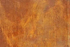 Orange brown corroded metal or steel shee Royalty Free Stock Photography