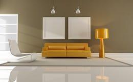 Orange and brown interior Stock Photo