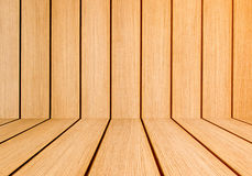 Orange brown interior planks Stock Photo