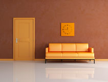 Orange and brown lounge Royalty Free Stock Photos