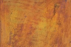 Orange brown old rusted corroded metal or steel sheet Royalty Free Stock Photos
