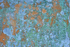 Orange brown old rusted corroded metal or steel sheet Stock Photography