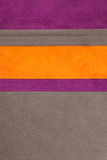 Orange, brown and purple leather texture sewed Royalty Free Stock Image