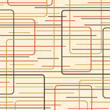 Orange and Brown Retro Lines stock illustration