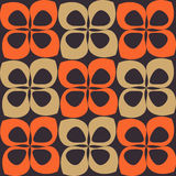 Orange and brown retro pattern Stock Image