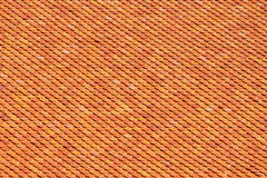 Orange Brown Roof Tile for textures and background Stock Images