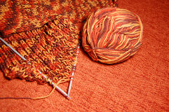 Orange brown scarf Royalty Free Stock Photos