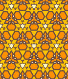 Orange brown yellow color abstract geometric seamless pattern Stock Image
