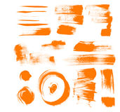 Orange brush strokes Royalty Free Stock Photo