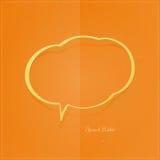 Orange bubble Royalty Free Stock Image