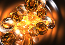 Orange Bubbles 02 Royalty Free Stock Photography