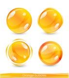 Orange bubbles Royalty Free Stock Images