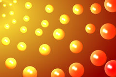 Orange Bubbles Royalty Free Stock Image