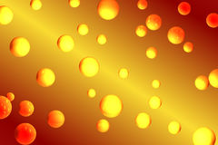 Orange Bubbles Royalty Free Stock Photography