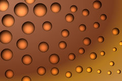 Orange Bubbles Stock Photo