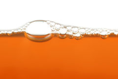 Orange bubbles horizontal. The abstract orange bubbles horizontal Stock Images