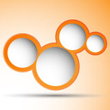 Orange bubbles with space for text Stock Image