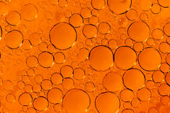 Orange bubbles texture Stock Photo