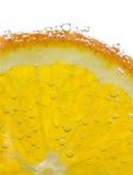 Orange. With bubbles on white background Stock Image