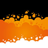 Orange Bubbly Background Royalty Free Stock Photo