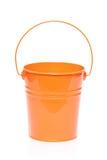Orange bucket. Isolated on white background Royalty Free Stock Images