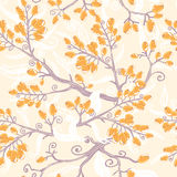 Orange buckthorn berries seamless pattern Royalty Free Stock Image