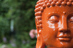 Orange Buddha Head Royalty Free Stock Image