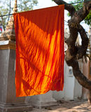 Orange Buddhist monk's robe Royalty Free Stock Photography