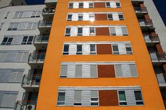 Orange building Royalty Free Stock Images