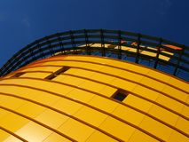 Orange building [3]. Orange building, blue sky Stock Image