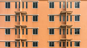 The orange building Royalty Free Stock Photo